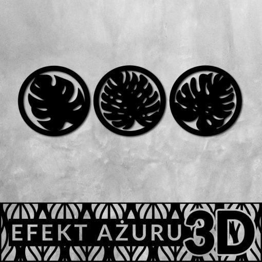 Okrągłe ornamenty 3d z botanicznym wzorem