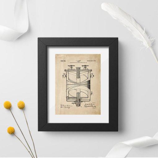 Plakat konstrukcja kuchenki gazowej