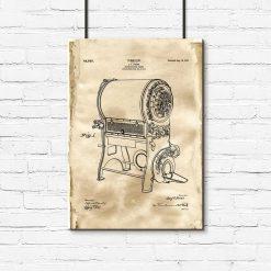 Plakat dla baristy - Patent na urządzenie do prażenia kawy do kuchni
