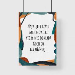 Artystyczny plakat z cytatem dla kobiet