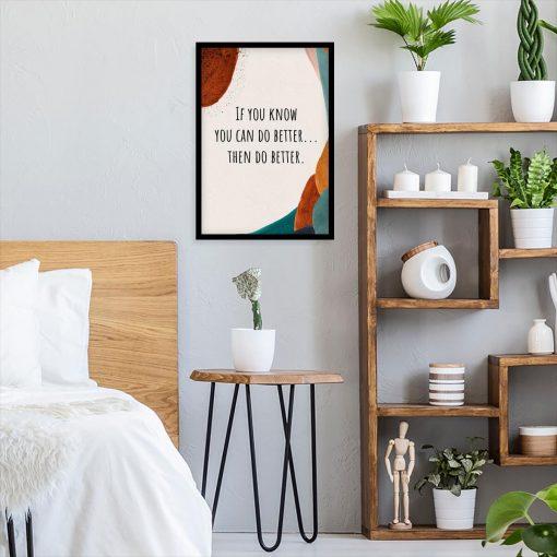 Plakat z napisem - Zrób to lepiej do sypialni