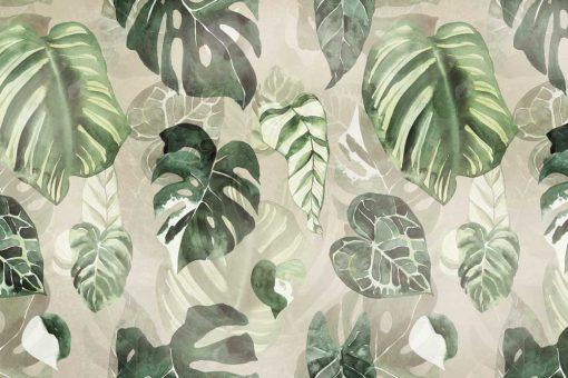 Fototapeta z zielonymi liśćmi