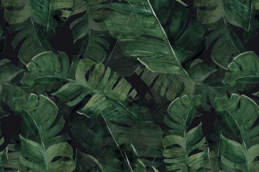 Palmowe liście na tapecie