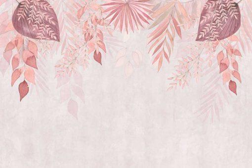 Kompozycja różowych liści - tapeta