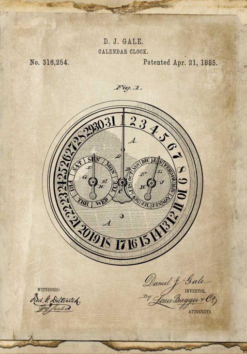 Plakat z patentem na kalendarz