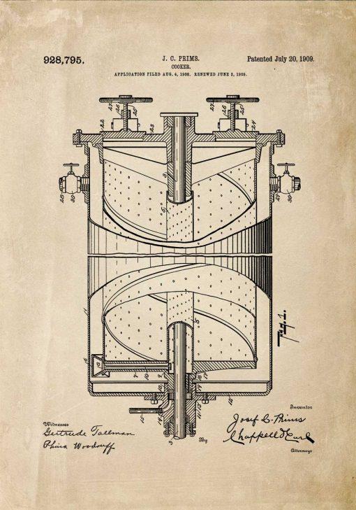 Plakat kuchenka gazowa - patent produktu