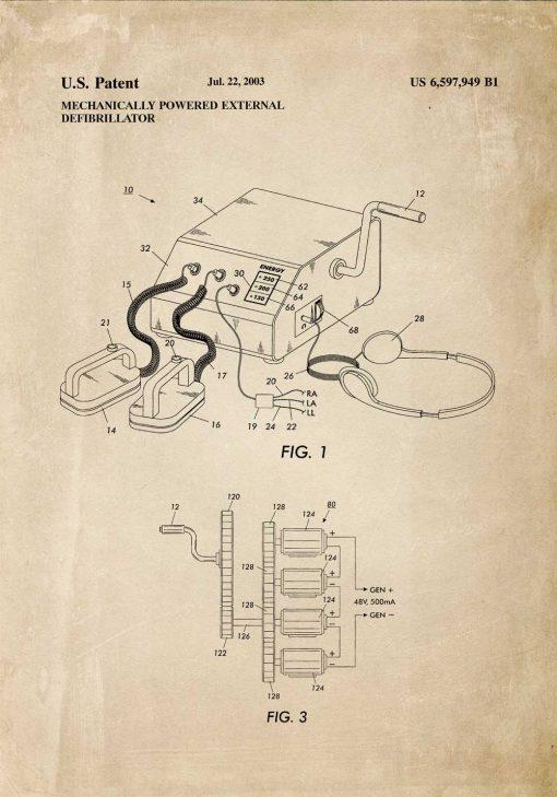 Plakat schemat budowy defibrylatora
