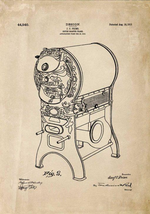Plakat - Patent na piec do kawy dla baristy