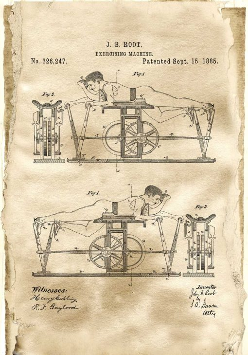 Poster z patentem na urządzenie do ćwiczeń dla trenerki