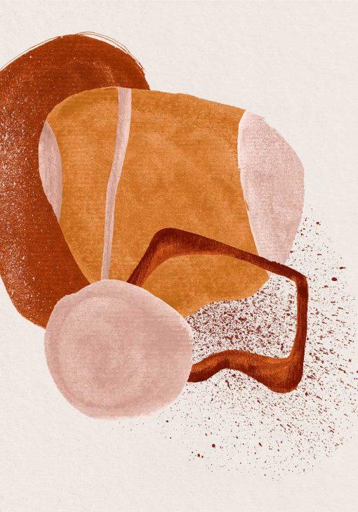 Plakat z brązową abstrakcją do biura