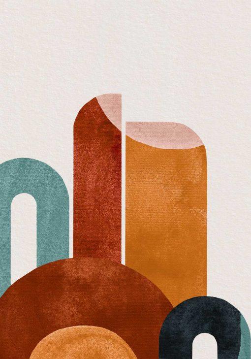 Plakat abstrakcyjne kształty