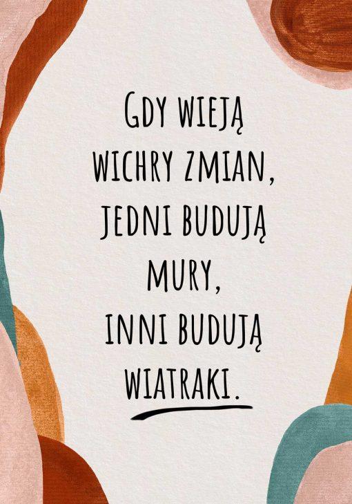Plakat z sentencją o ludziach na prezent
