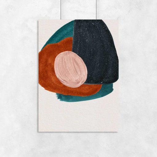 Plakat w abstrakcyjne kleksy