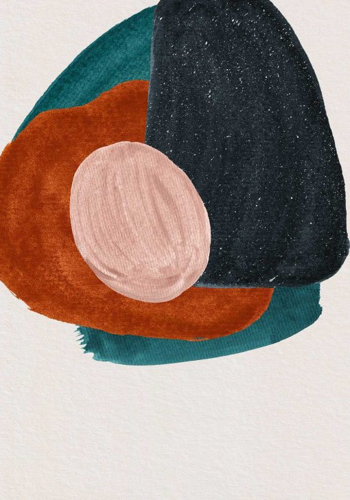 Plakat motywem abstrakcji