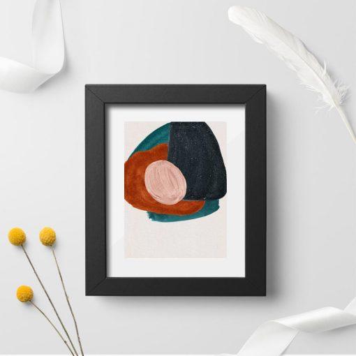 Plakat z abstrakcyjnymi plamami do ozdoby poczekalni