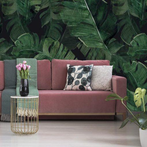 Foto-tapeta z motywem egzotycznych liści