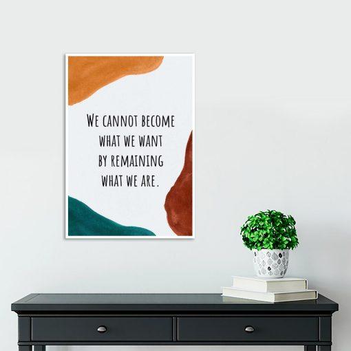 Typograficzny plakat z pomarańczową plamą do gabinetu