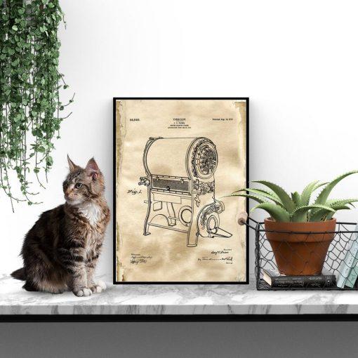 Plakat dla baristy - Patent na urządzenie do prażenia kawy do restauracji