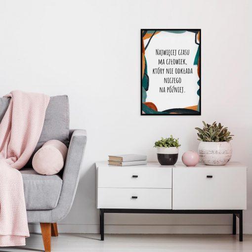Artystyczny plakat z cytatem do sypialni