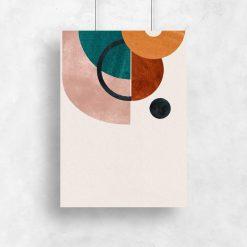 Plakat z geometrią w żywych kolorach