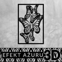 Motyw motyli -dekoracja 3d