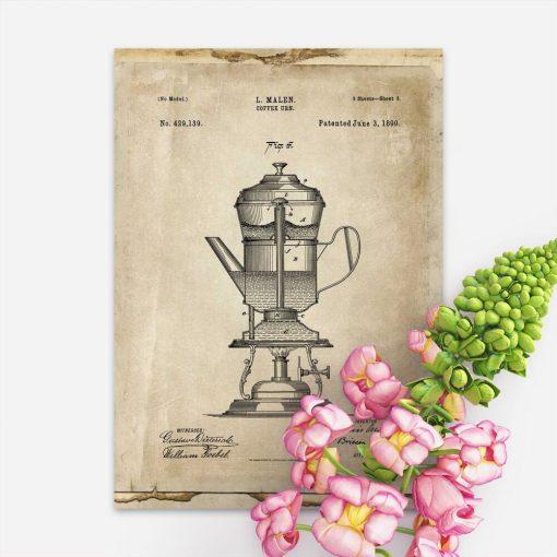 Plakat projekt ekspresu do kawy - 1890r.