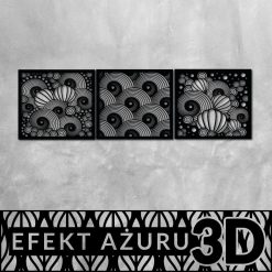 Trójwymiarowa dekoracja z muszlami