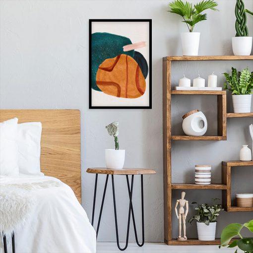 Fantastyczny plakat z artystycznymi plamami do sypialni