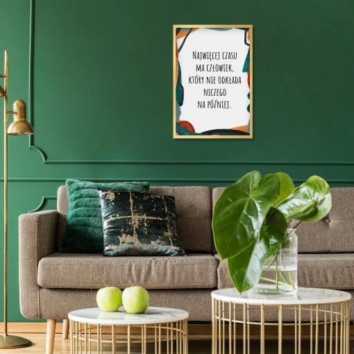 Artystyczny plakat z cytatem do salonu