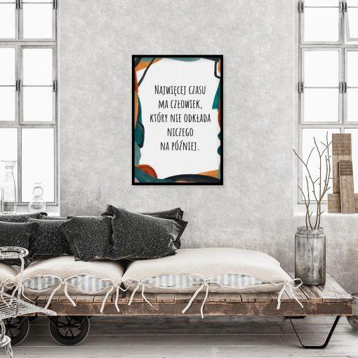 Artystyczny plakat z cytatem do gabinetu