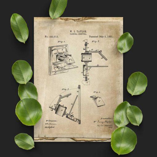 Plakat z prototypem fotografii