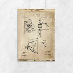 Plakat vintage z camera obscura - patent