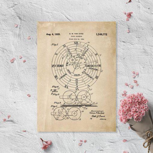 Plakat z certyfikatem na kalendarz mechaniczny