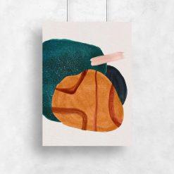 Fantastyczny plakat z artystycznymi plamami do jadalni