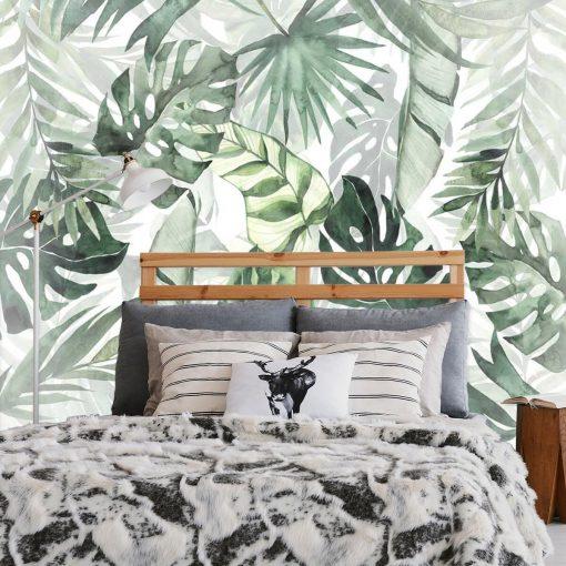 Tropikalna tapeta z roślinami