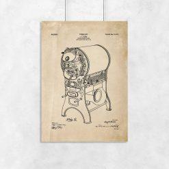 Plakat - Patent na piec do kawy do kawiarni