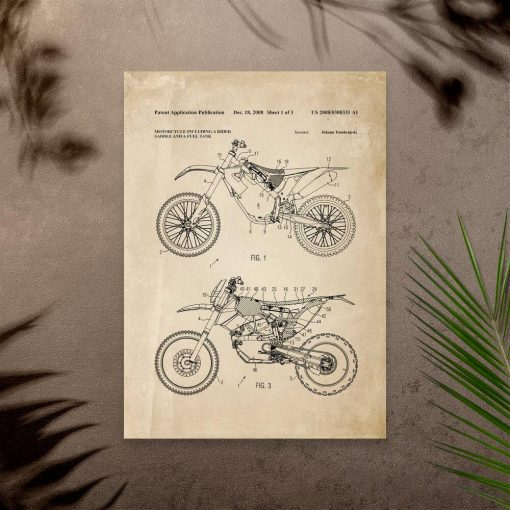 Plakat motocykl terenowy - patent 2008r.