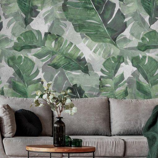 Fototapeta liście egzotyczne do salonu