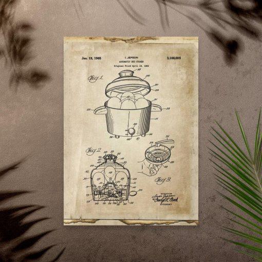 Plakat prototyp automatu do jajek