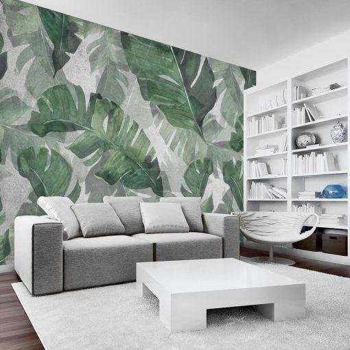 Foto-tapeta z motywem dużych liści