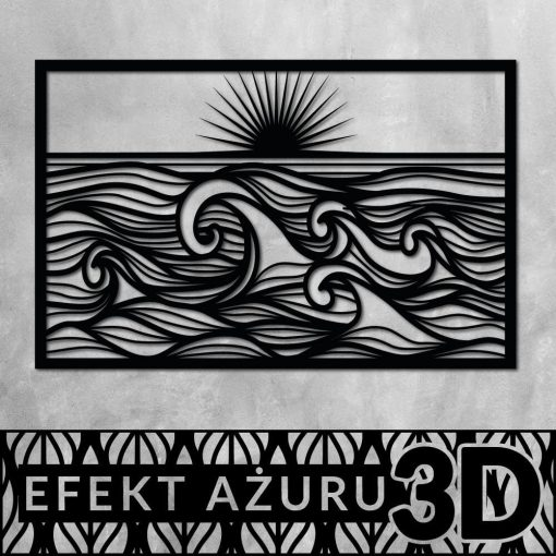 Zachód słońca - dekoracja 3d