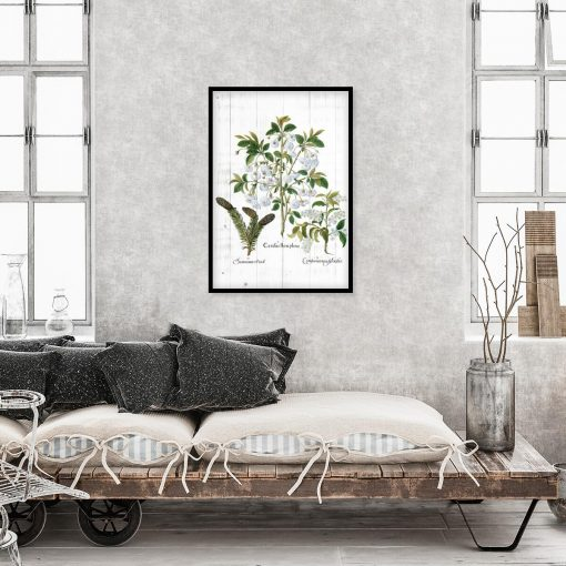 Botaniczny plakat z szyszką do sypialni