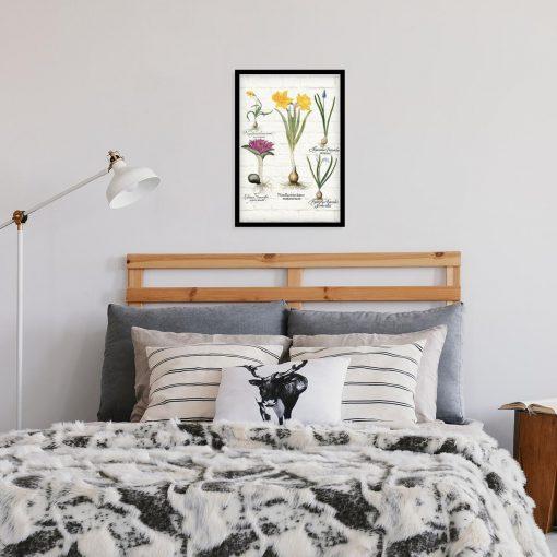 Kwiatowy plakat - Szafirek drobnokwiatowy biały do sypialni