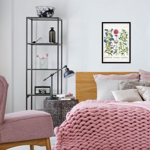 Plakat botaniczny z dzwonkiem ogrodowym do sypialni
