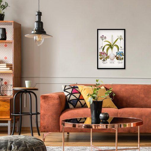 Plakat dla florysty z kwiatami przylaszczki do salonu