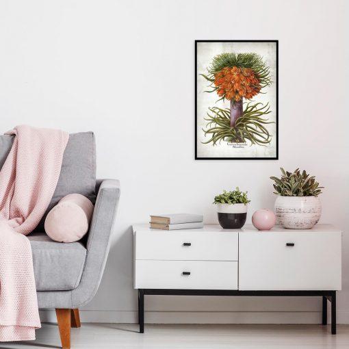 Plakat florystyczny z cesarską koroną do kuchni