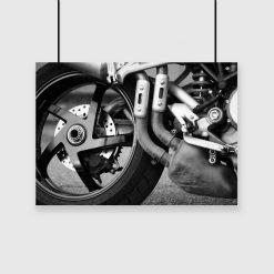 Plakat z motorem do salonu