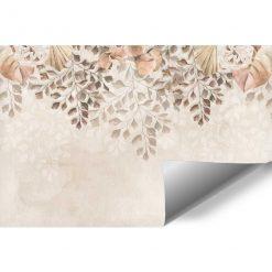Finezyjna fototapeta z pastelową roślinnością do salonu kosmetycznego