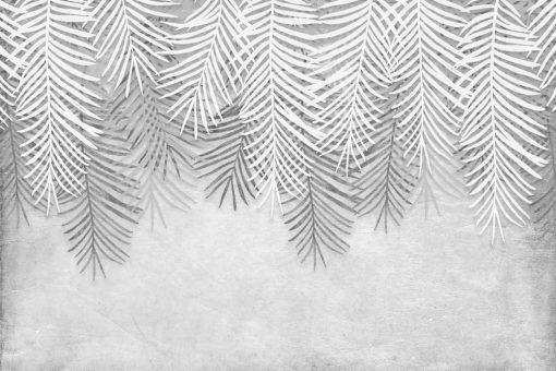 Foto-tapeta w szare liście palmowe do kuchni