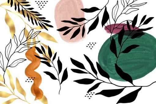 Foto-tapeta z kolorowymi kleksami